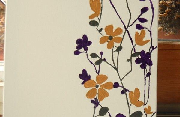 diy moderne Leinwandbilder blüten