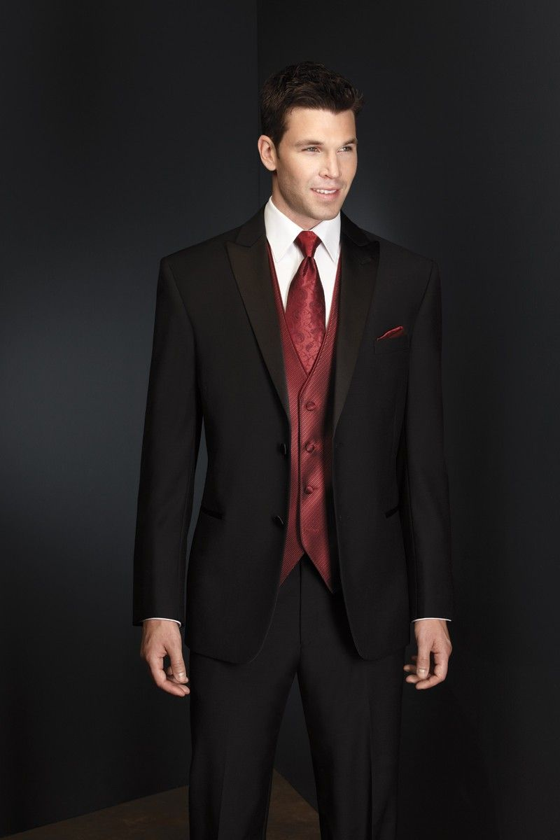 Red Tuxedo Vests For Men
