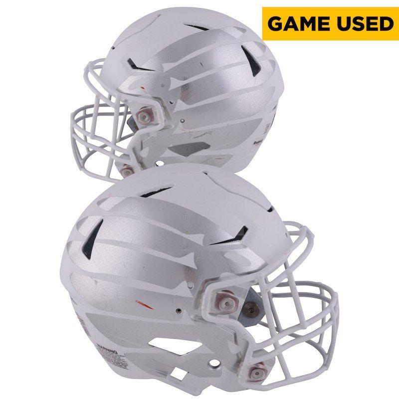 Oregon ducks fanatics authentic gameused white helmet