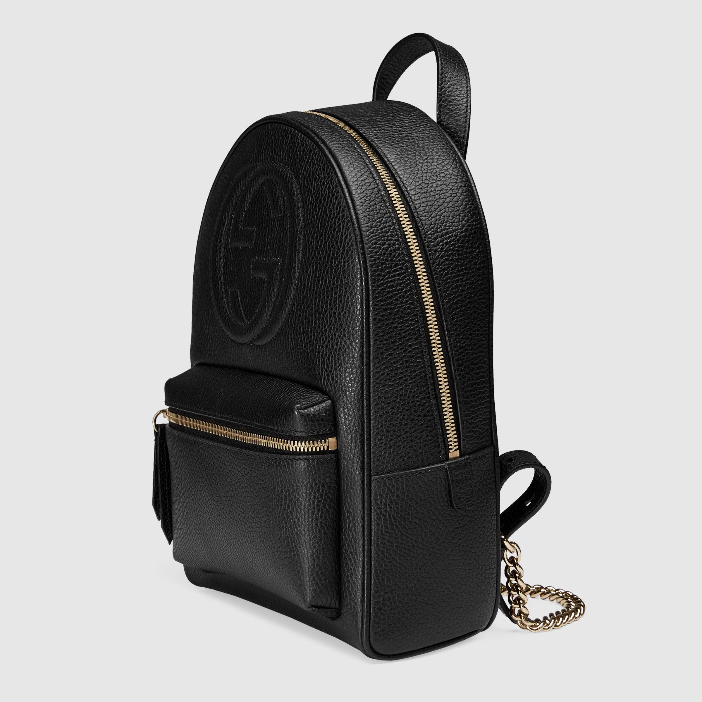 d3e7ab9af Soho leather chain backpack | Bags. | Leather backpack, Black gucci ...