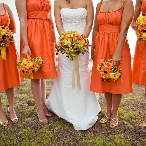 491f98878e4a orange sherbet Wedding Color Combinations | orange yellow bridesmaids  dresses 8 Perfect Color Combinations for .