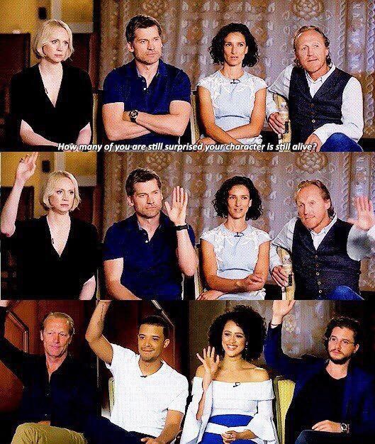 Game Of Thrones Cast Interview How Many Of You Are Still