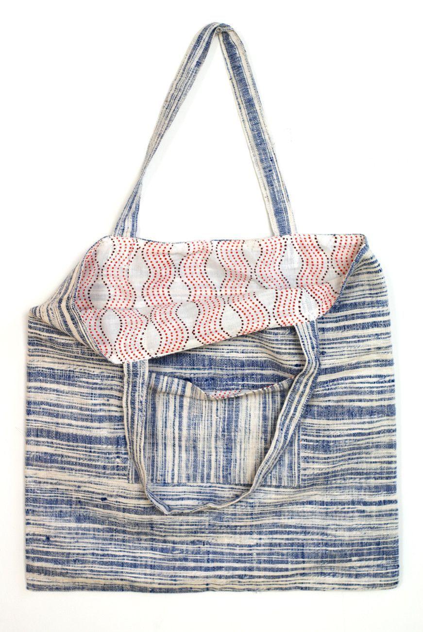 Blue Khadi tote | My style | Pinterest | Nähen