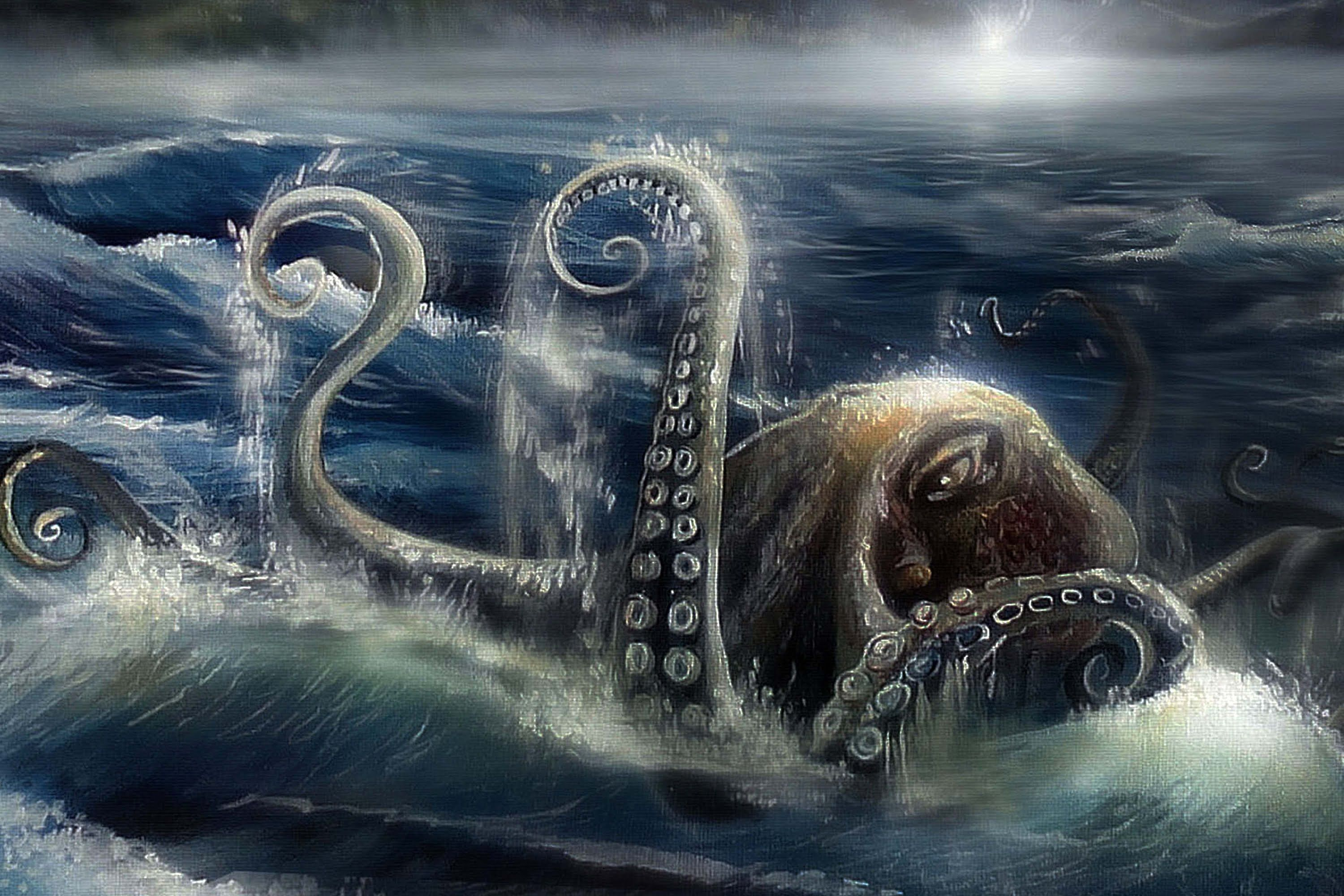 Wallpaper Ship Drowning Hd Creative Graphics 8497: The Gigantic Octopus Is An Octopus Capable Of Drowning