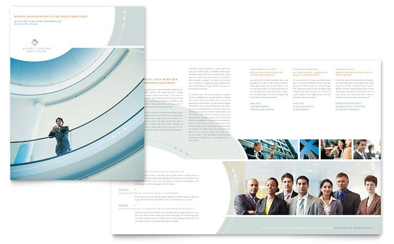 Business Consulting Brochure Template Design – Business Pamphlet Templates