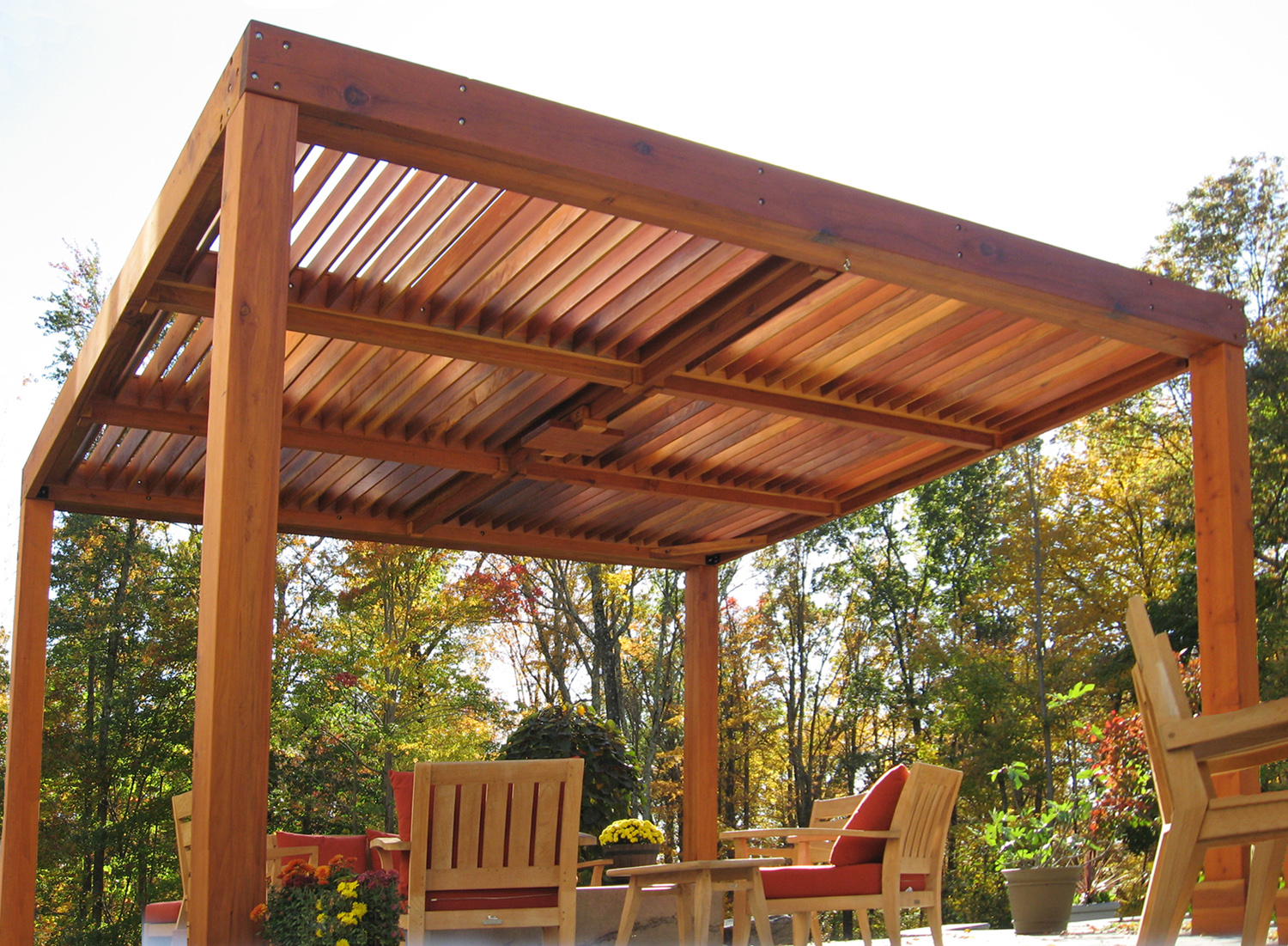 Modern Louvered Garden Pergolas Custom Made From Redwood Diy Pergola Modern Pergola Pergola