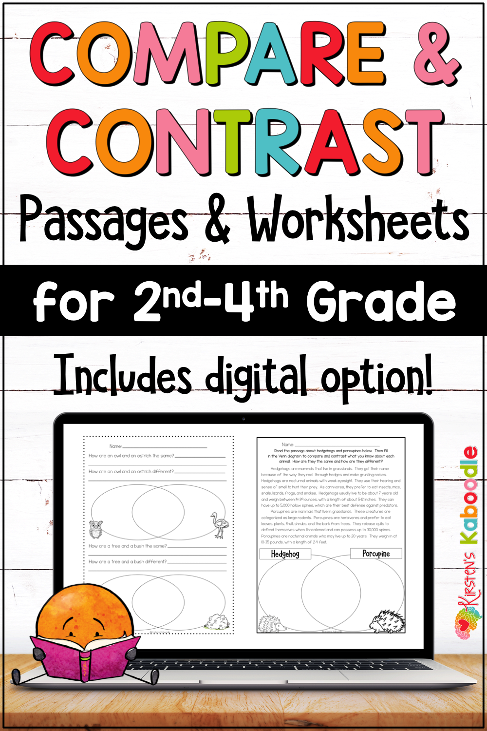 Compare And Contrast Passages Graphic Organizers W Digital Google Option Reading Passages Nonfiction Reading Passages Compare And Contrast [ 1500 x 1000 Pixel ]