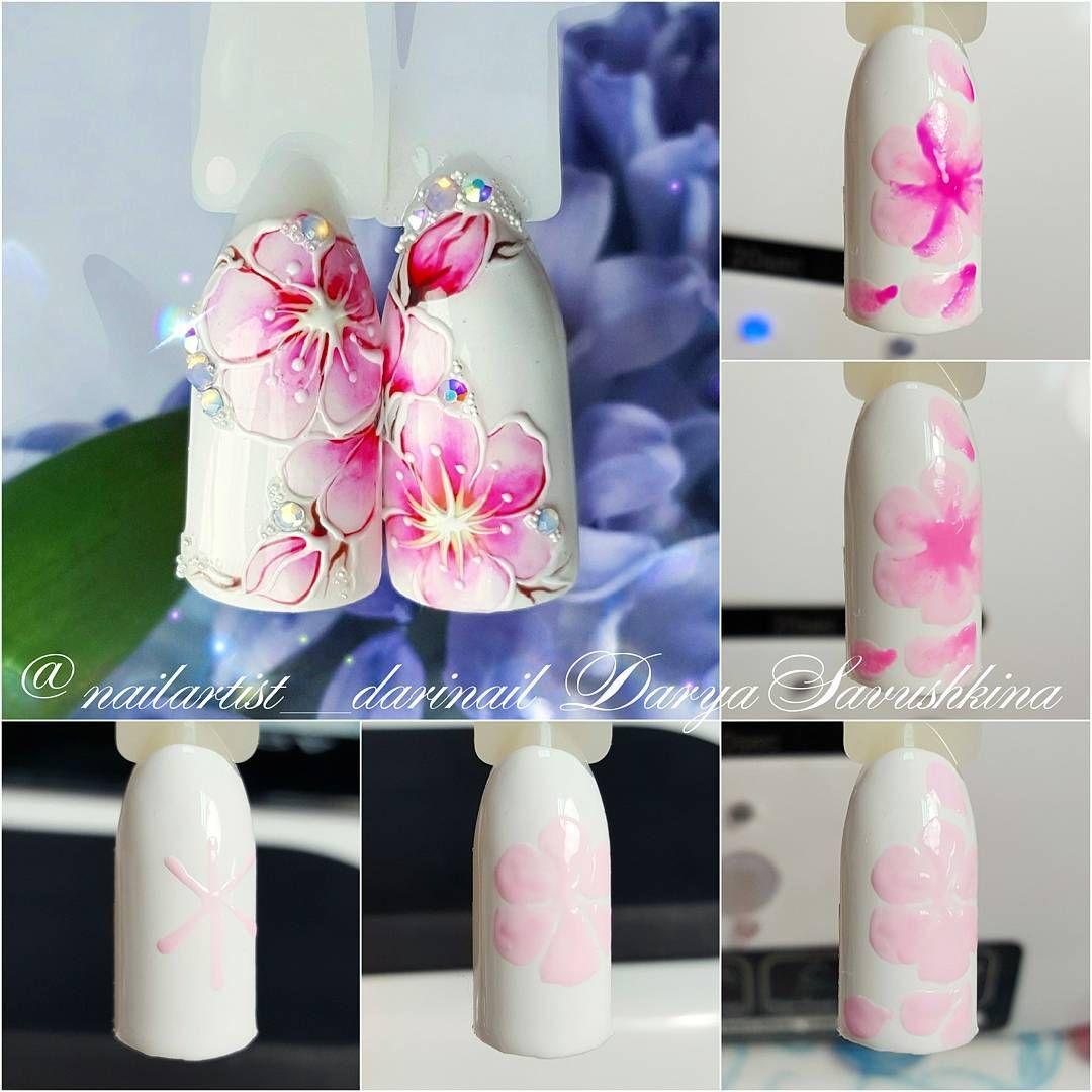 Мк цветы на ногтях