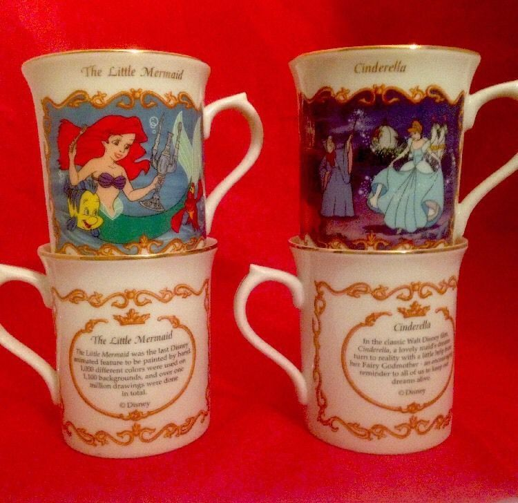 4 Mug Collection Cups The Mugs Animated Disney Classics Lenox MSpUVz