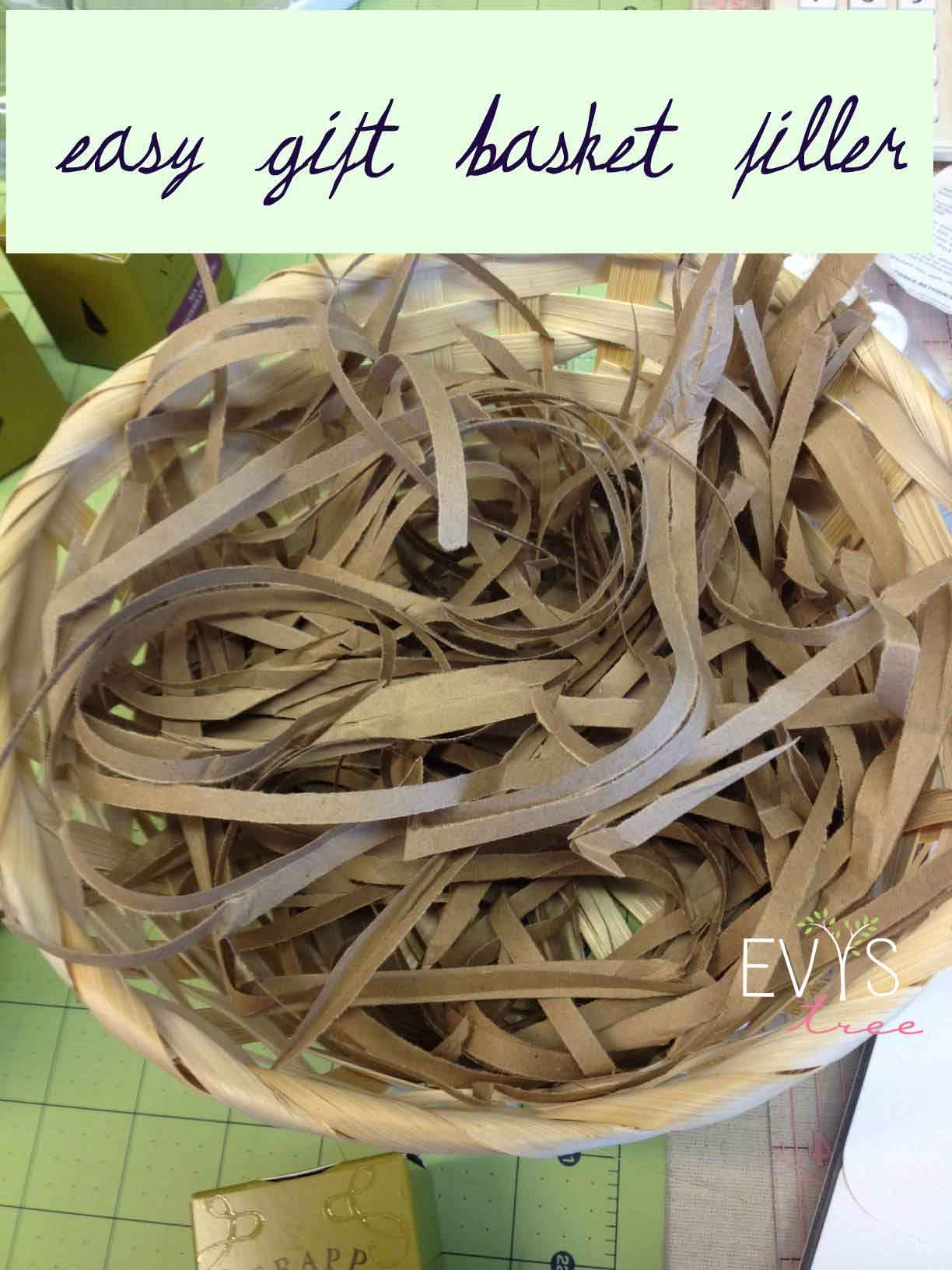 Gift Basket Wrapping Ideas Easy Gift Basket Filler Brown Paper Through A Paper Shredder