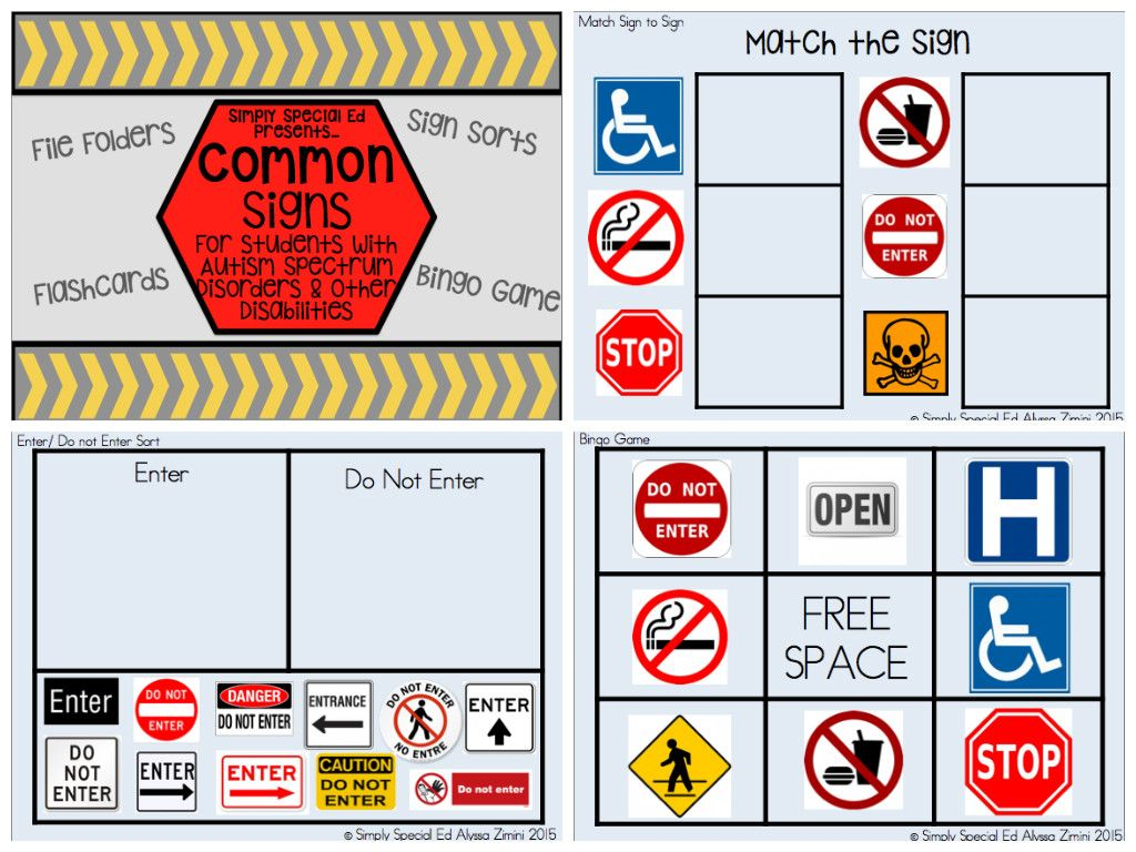 Free Worksheet Community Signs Worksheets 17 best images about special ed safety signs on pinterest file folder activities focus and autism