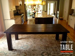This Traditional Farmhouse Table Resides In A Beautifully Renovated Contemporary Open Floor Plan Kitchen Raleigh Nc