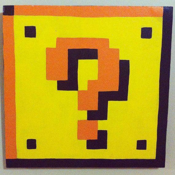 Super Mario Bros Question Mark Block Pixel Art