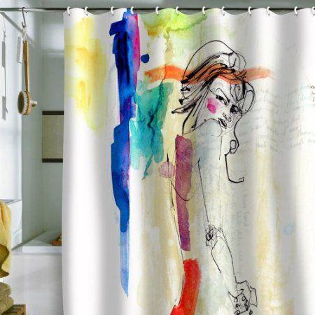 Amazon DENY Designs Holly Sharpe Rainbow Shower Curtain 69 By 72