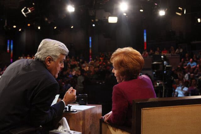 Carol Burnett and Jay Leno