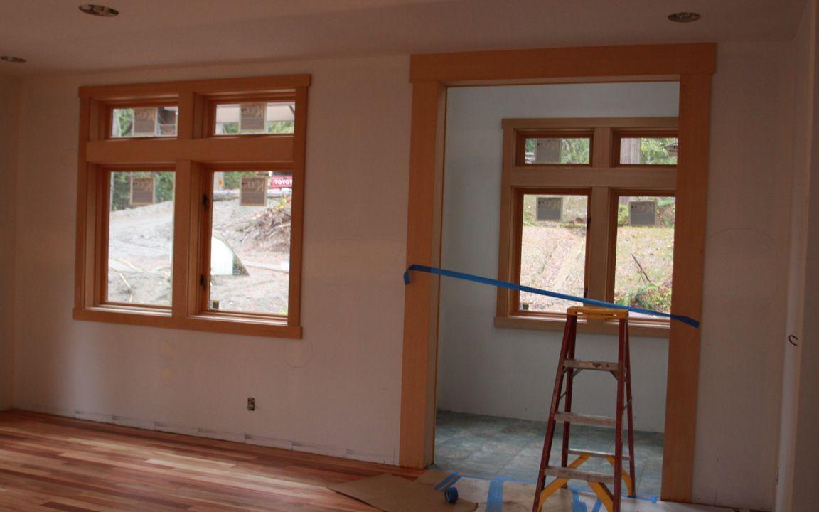 Clean Thick Wood Lines Around Door Frames Wood Trim Painting Wood Trim Wood Doors
