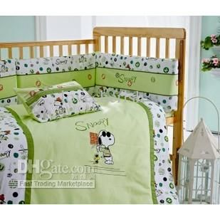 Baby Bedding Kub Catoon Snoopy Cute Infant Set Total 6pcs Pillowcase Quilt Cover Bedspreads
