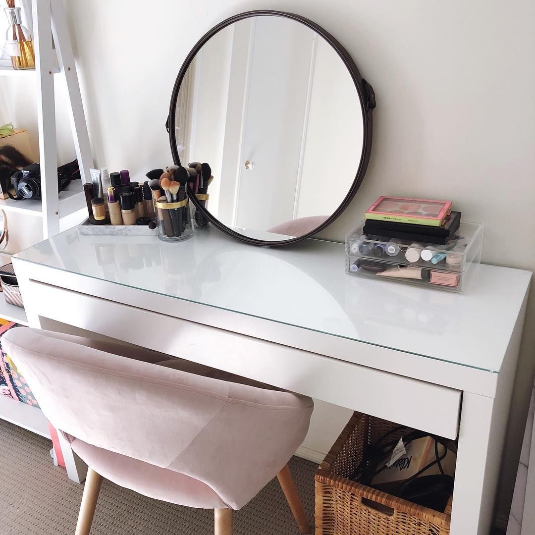 Vanity Idea All White Bedroom Ikea Malm Dressing Table Malm Dressing Table