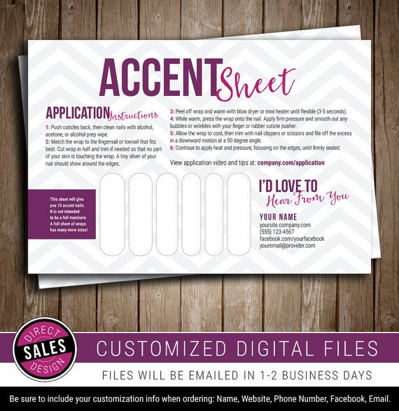 Accent Sheet  Accent Pack  Sample Card  Party Prize  Direct