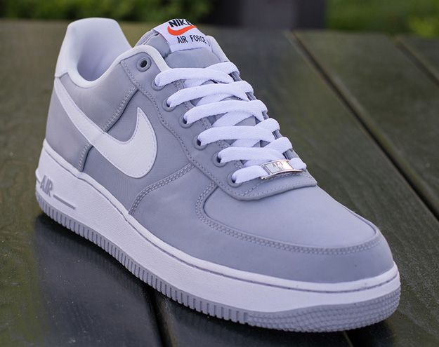 white and grey air force ones