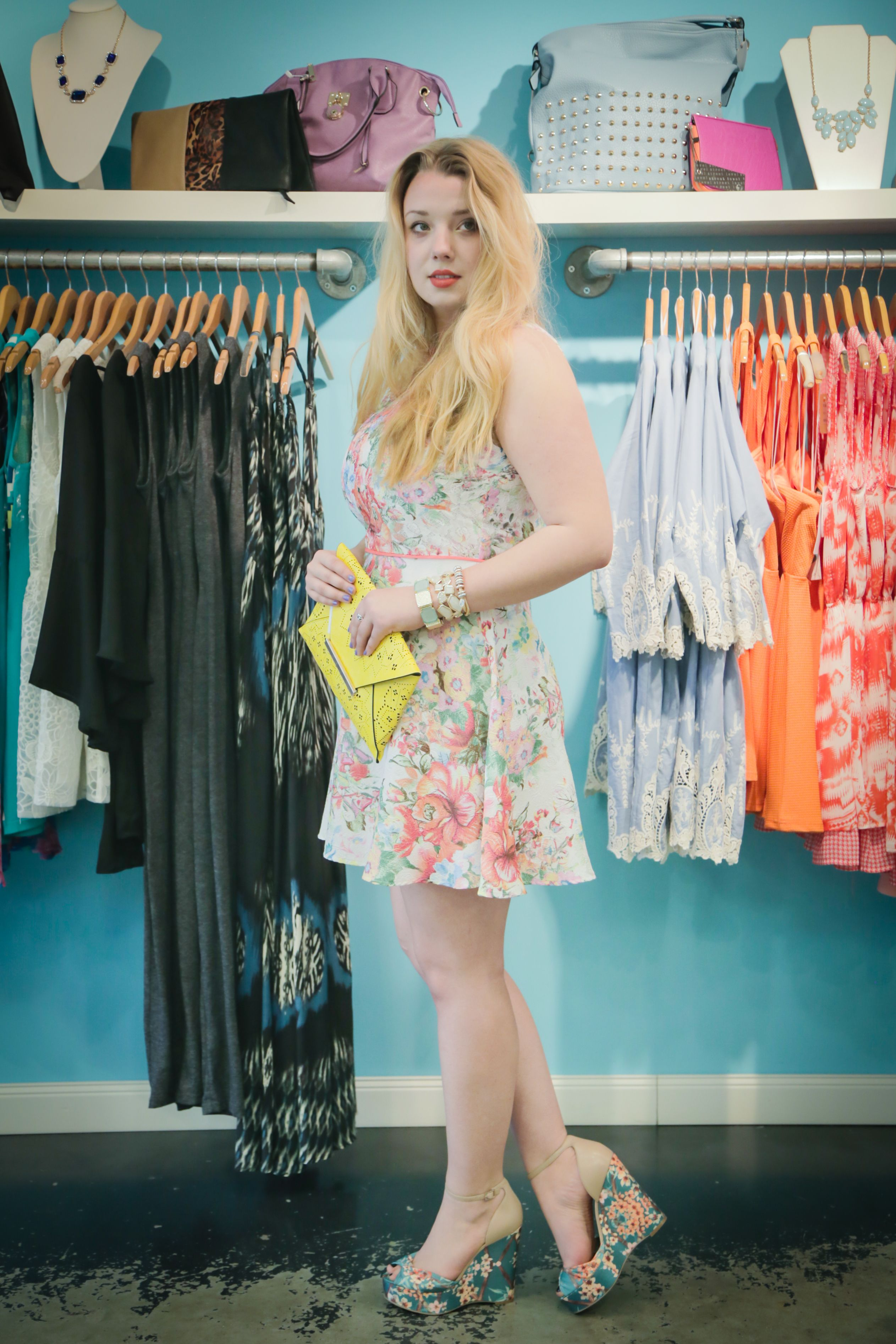 Mixing Floral Prints, Nashville Fashion, Nashville Style Blogger COSMICaroline, Local Focus Showcasing Muse Nashville, Muse Boutiques