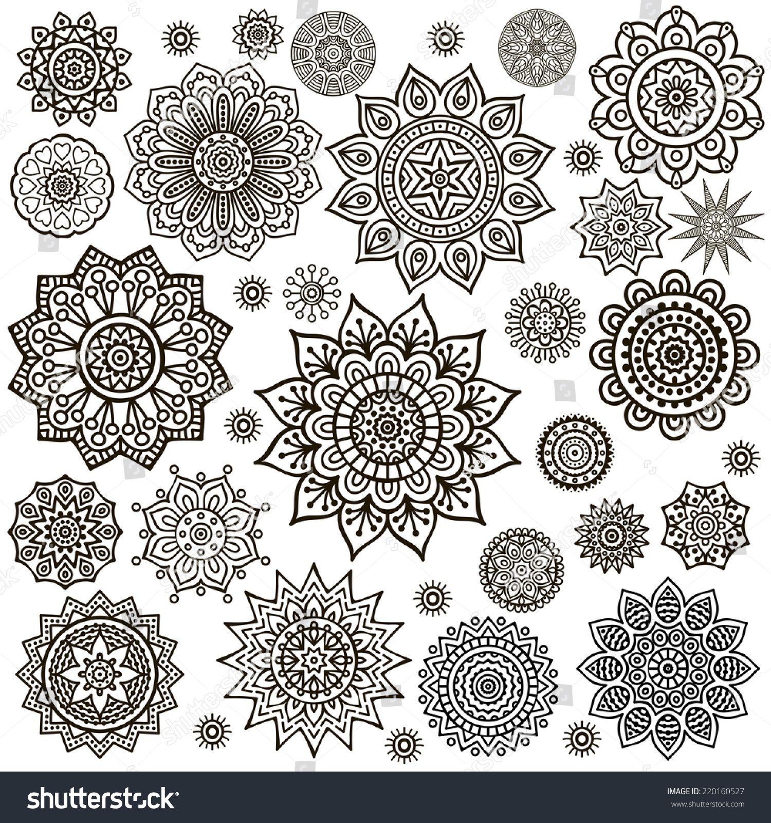 Mandala Round Ornament Pattern Vintage Decorative Elements Hand Drawn Background