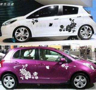 Moreattractivewithbutterflycustomvinyldecalscarstickerart - Car custom vinyl stickers design