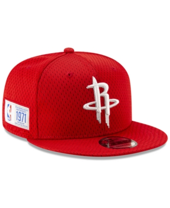 size 40 46f27 6a1d2 New Era Houston Rockets Jock Tag 9FIFTY Snapback Cap - Red Adjustable
