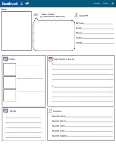 free facebook template for students