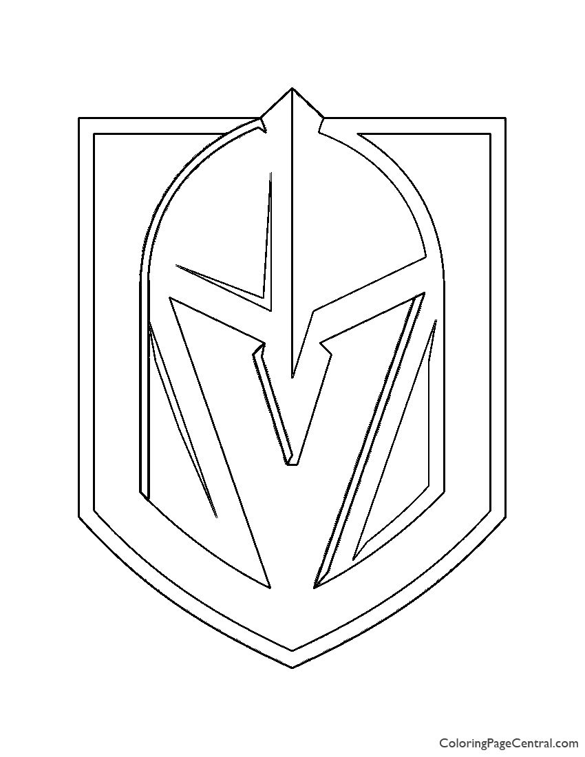 Vegas Golden Knights Coloring Pages In 2020 Vegas Golden Knights