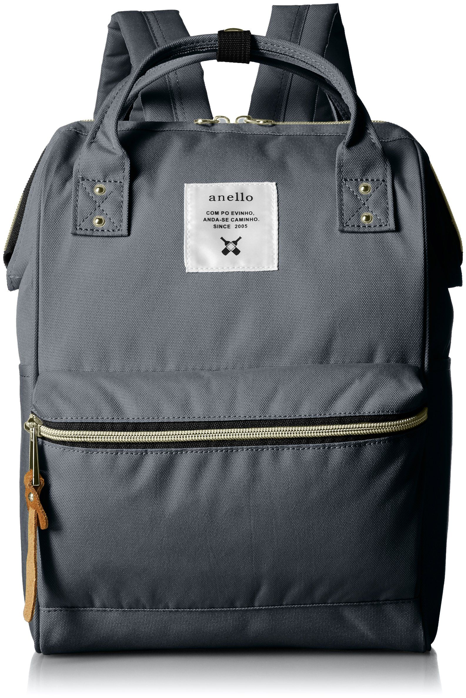 e1cf6c222fd2 anello  AT-B0197B small backpack with side pockets (Charcoal gray). Imported