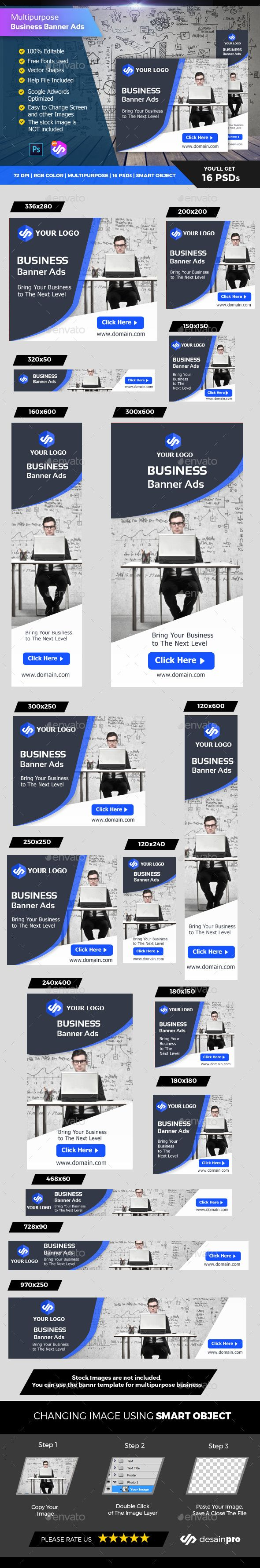 Corporate Business Banner Ads - #Banners & Ads #Web Elements Download here: https://graphicriver.net/item/corporate-business-banner-ads/19622381?ref=alena994