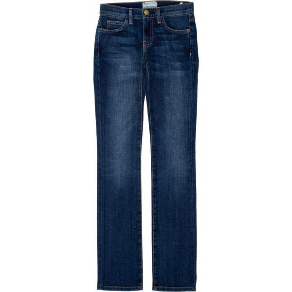 Pre-owned Current/Elliott Jeans ($65) ❤ liked on Polyvore featuring jeans, blue, current elliott jeans, straight leg jeans, current/elliott and blue jeans