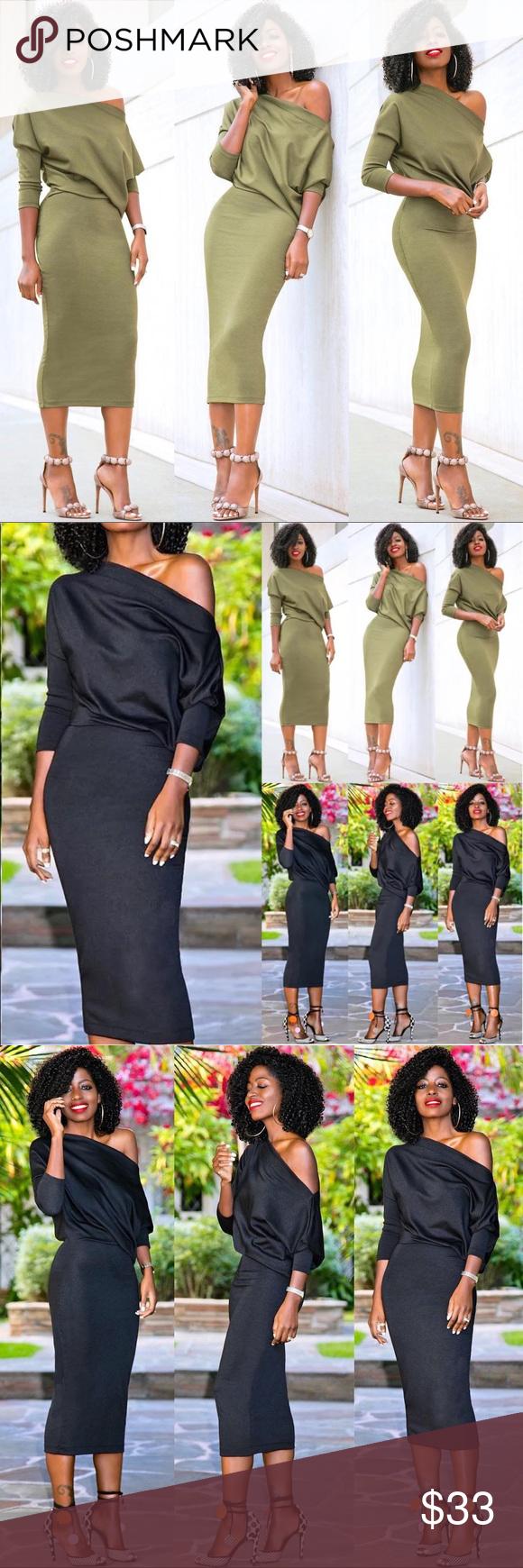 Dress long dress fashion design neckline and shoulder