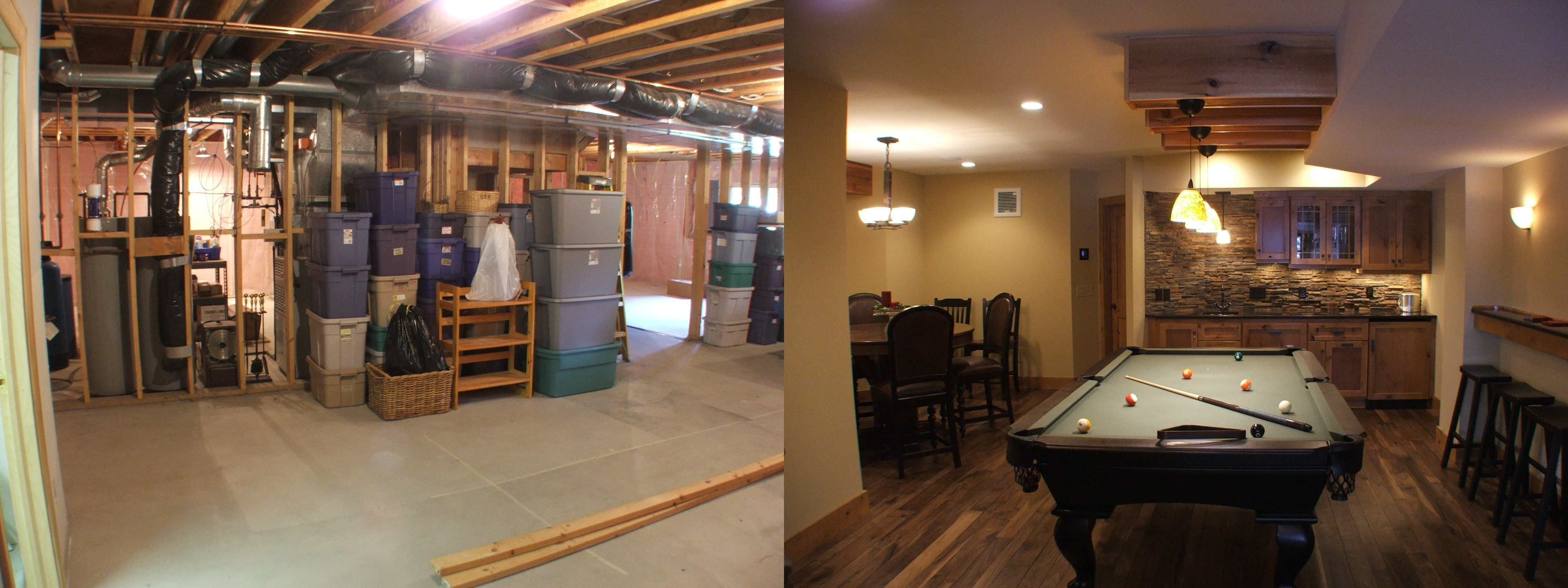 Basement Remodel Before And After Photos