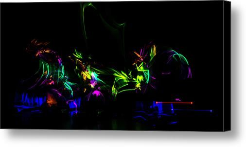 Glow Stick Abstracts 2 Canvas Print / Canvas Art By Tom Clark