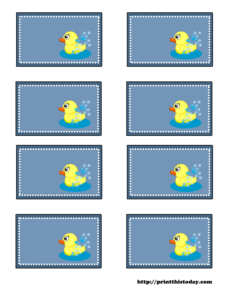 image detail for free baby shower labels with cute duck print this today
