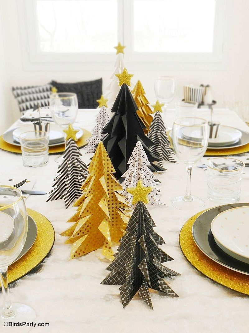 My Black Gold Christmas Party Tablescape Christmas Table Decorations Easy Christmas Decorations Paper Christmas Decorations