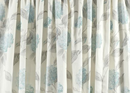 Hydrangea Duck Egg Cotton Pencil Pleat Ready Made Curtains | Laura Ashley |  Main Bedroom | Pinterest | Laura Ashley, Curtain Ideas And Drawing Rooms