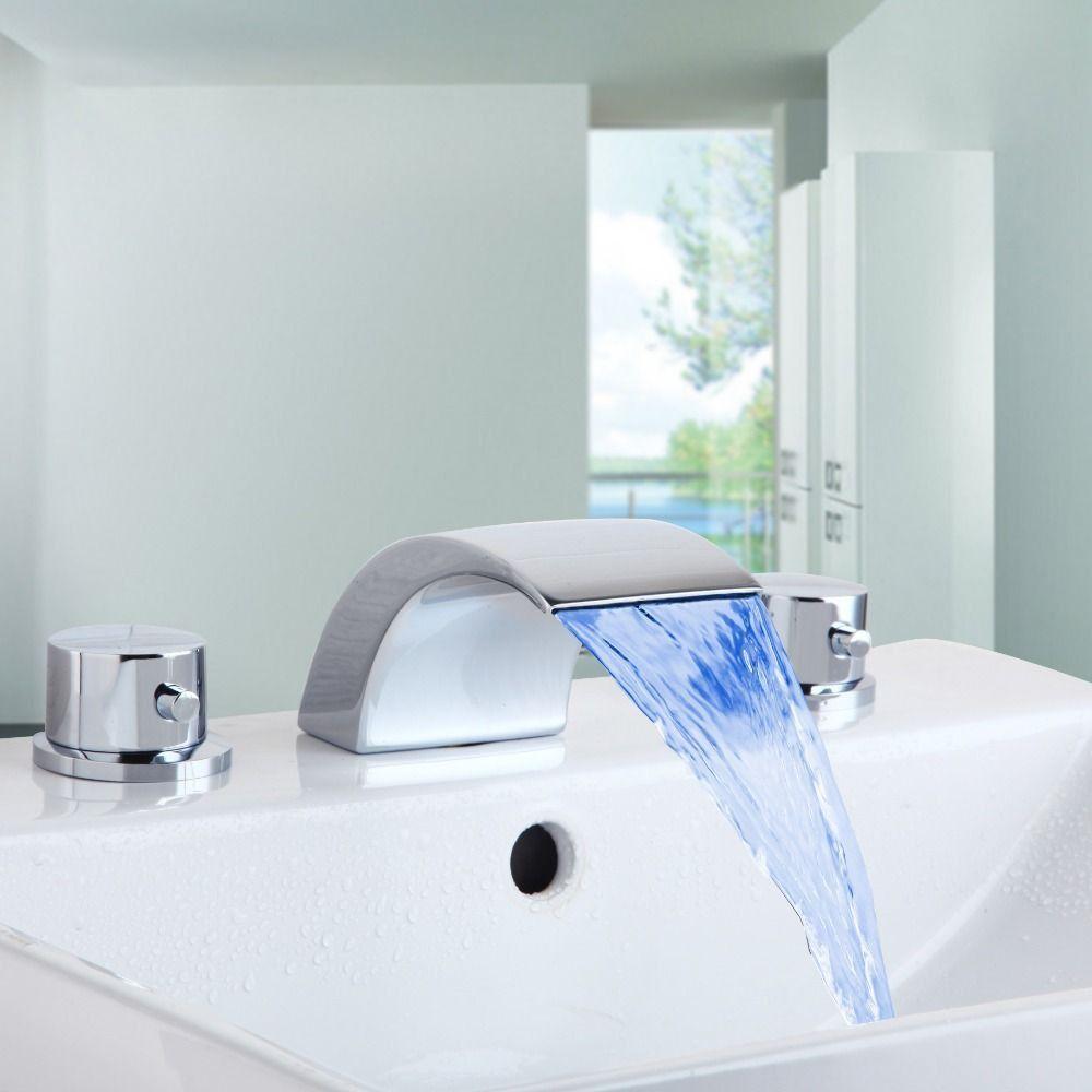 Zarter Wasserfall Armaturen Für Bad Waschbecken Auch Blue