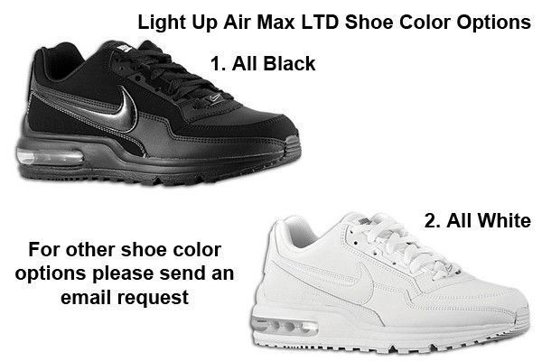 hot sale online 08854 6da27 MENS Nike Air Max LTD with CONTINUOUS WHITE LIGHTS GreatGuyGiftGuideContest  for the man who works so hard he wears his shoes out!