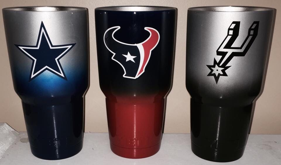 Dallas Houston Texans Spurs 30oz Yeti Cups Lonestar