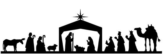 Xmas Nativity toppers set Die cut outs Silhouette Shapes Christmas
