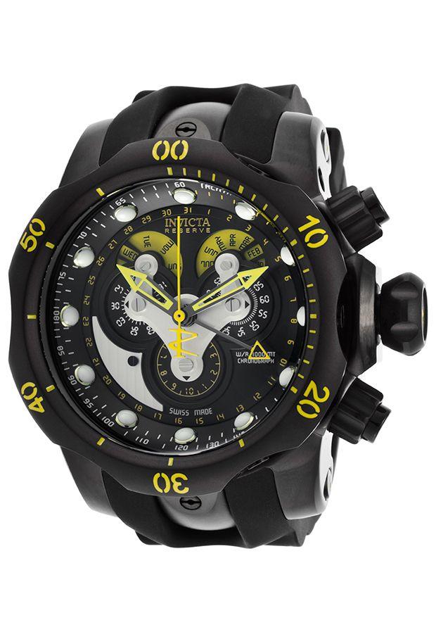 Image for Men's Venom Reserve Chrono Black Silicone and Dial