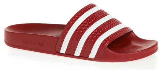 pretty nice 98344 8b85d Adidas Originals Adilette Flip Flops - Red