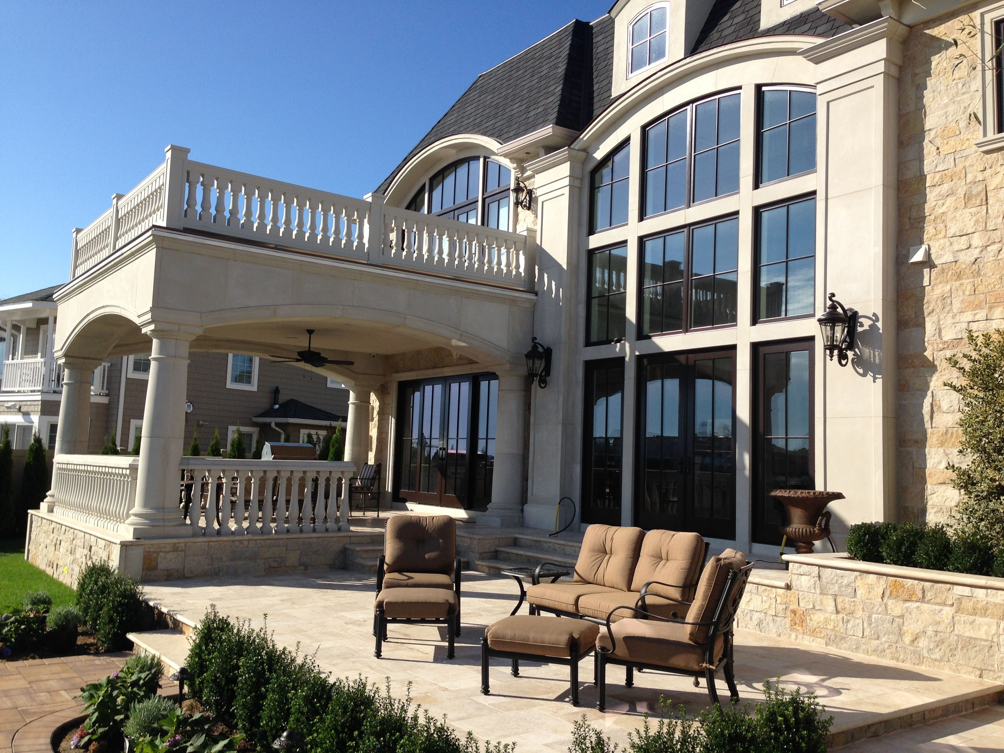 Beautiful House Using Precast Concrete. Products Installed Are Balcony  Handrail, Patio Handrail, And