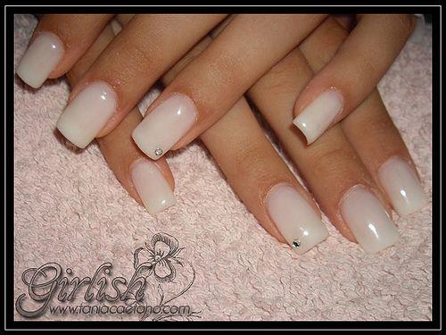 unhas de gel branco leitoso - Pesquisa Google | Nails ...