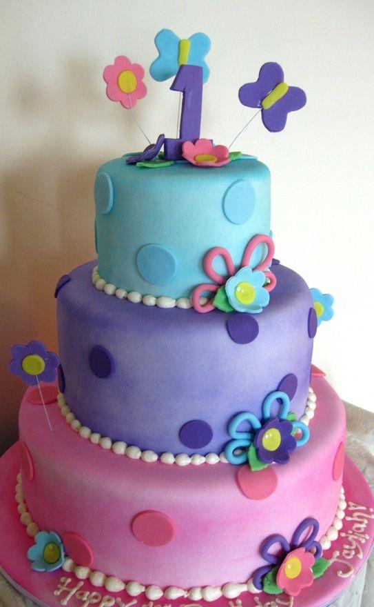 Flower Butterfly Cake Girl birthday cake Pinterest Butterfly