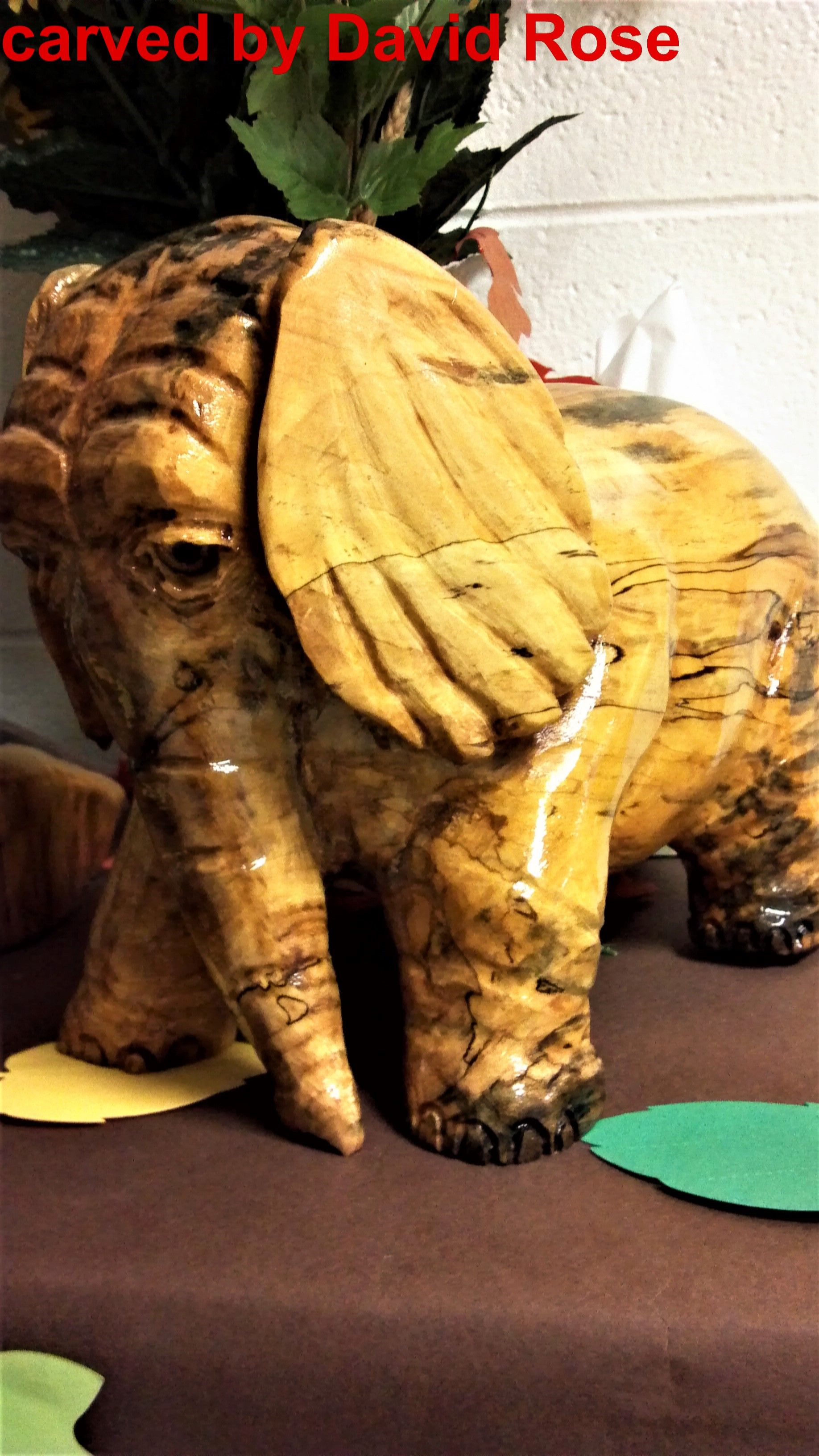Red maple elephant dave s carvings carving sculpture lion