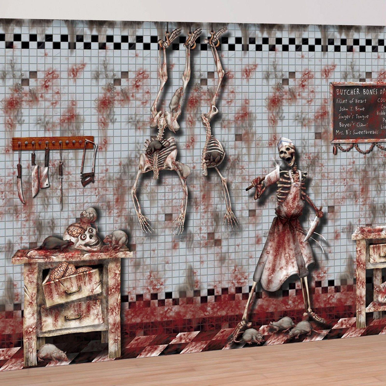 Halloween Decorrations  Chop Shop Wall Scene